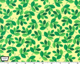 Wild Leaves - Mint Green Cotton Print Fabric from Michael Miller