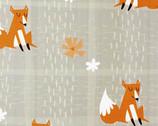 Wonderful Woodlands - Grey Fox Plaid by Arrolynn Weiderhold from Wilmington Prints
