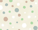 Critter Patch - Cream Dots - Organic Cotton Print Fabric from Clothworks