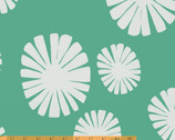 Follie - Mickel - Flower Green Teal - Cotton Print Fabric by Lotta Jansdotter from Windham Fabrics