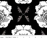 Mod Studio - Main Black Floral by Holli Zollinger from Riley Blake
