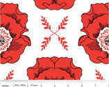Mod Studio - Main Red Floral by Holli Zollinger from Riley Blake