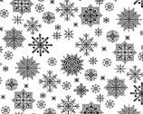 Winter Essentials - Snowflake Black on White from Studio E