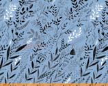Swim Team - Waving Grasses Blue by Dinara Mirtalipova from Windham Fabrics