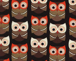 Woodland Friends - Black Owls from Timeless Treasures