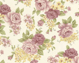 Daphne - Roses Floral Cotton Print Fabric from Clothworks