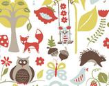 Fox Hollow - Wonderland Blue - Organic Cotton Print Fabric from Monaluna