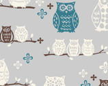 Westwood - Hoot Owls - Organic Cotton Print Fabric from Monaluna
