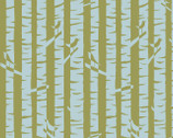 Meadow - Birches - Organic KNIT Fabric from Monaluna