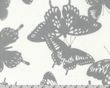 Black & White Collection - Butterflies Shadow Grey by Jennifer Sampou from Robert Kaufman