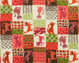 Cat in Calico - Pink Cotton FLANNEL Fabric from Alexander Henry