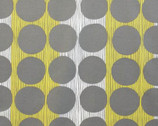 Prairie House - Grey Chartreuse Cotton Print Fabric from Alexander Henry