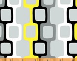 Graffiti - Gray Yellow Frames by Another Point of View Cotton Print Fabric from Windham Fabrics