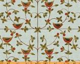 Simple Life - Vine Birds Aqua by Karen Cruden from Windham Fabrics