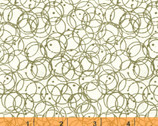 Flirt - Rings Green by Another Point of View from Windham Fabrics
