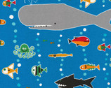 Sea Life by Ed Emberley from Cloud 9 Fabrics