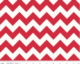 Le Creme Chevron - Medium Chevron Red from Riley Blake