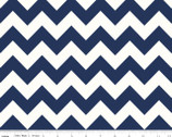 Le Creme Chevron - Medium Chevron Navy from Riley Blake