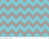 Medium Chevron - Aqua Gray from Riley Blake