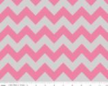 Medium Chevron - Hot Pink Gray from Riley Blake