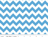 Cotton Chevron - Small Chevron Medium Blue from Riley Blake