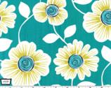 Julie - Teal Flower from Michael Miller