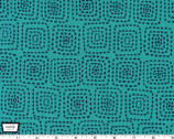 Stitch Square - Turquoise from Michael Miller