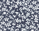 Mixologie - Floral Mimosa Blueberry Dark Blue from Studio M from Moda