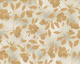 Abalone Cove - Gold All Over Floral from Maywood Studio