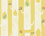 Circa 52 - Tree Stripes Sun Yellow - Organic Cotton Fabric by Monaluna from Birch Fabrics