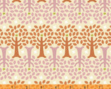 Forest Parade - Organic Cotton Print Fabric - Trees Orange by Petit Collage from Windham Fabrics