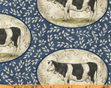 Farm Chic - Cow Portraits by Kate McRostie from Windham Fabrics