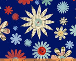 Handmade - Flowers - Cotton Print Fabric by Macrina Busato from Windham Fabrics