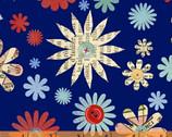Handmade - Flowers - Cotton Print Fabric by Macrina Busato from Windham Fabrics