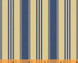 Hennessy - Stripe Navy Cream by Willamsburg from Windham Fabrics