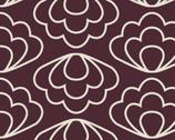 "Time Warp - Ripple Brown - 54"" Organic Barkcloth from Cloud 9 Fabrics"