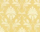 Printemps - Damask Buttercup Yellow Mustard by 3 Sisters from Moda