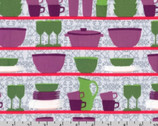 Table Talk - Retro Dishes Cups by Laurie Wisbrun from Robert Kaufman
