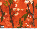 Vignette - Cherry Bloom - Apricot Orange by Laura Gunn from Michael Miller
