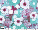 Vignette - Spring All Over - Berry Turquoise by Laura Gunn from Michael Miller