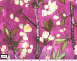 Vignette - Cherry Bloom- Berry Burgundy Purple by Laura Gunn from Michael Miller