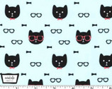 Cool Cats - Dapper Cat Aqua from Michael Miller