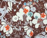 Oska - Chocolate Floral from Alexander Henry