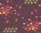 Haiku - Scattered Petals - Organic Cotton Fabric from Monaluna