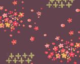 Haiku - Scattered Petals - Organic Cotton Fabric from Monaluna