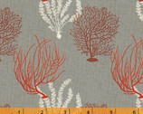 Hidden Cove - Coral Grey by Sue Schlabach from Windham Fabrics