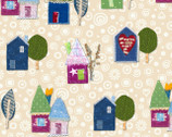 Our House - Multi Stars House by Tracie Lyn Huskamp from Windham Fabrics