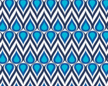 Singin' The Blues - Blue Drops by Jacqueline Savage Mcfee from Camelot Fabrics