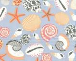 Cabana - Light Slate Blue Seashell from Benartex
