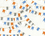 Cabana - Cream Nautical Flags from Benartex